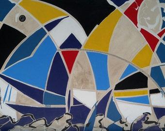 Sailing Regatta water lake ocean contemporary painting