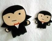 Set of 2 Vampires Halloween No Sew Iron On Appliques