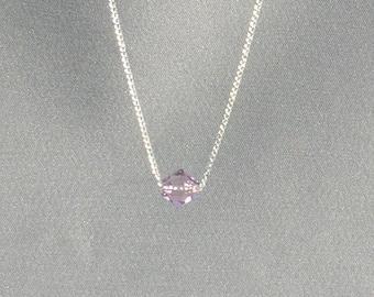 June Birthstone- Light Amethyst Necklace