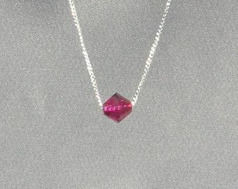 July Birthstone-Ruby Necklace