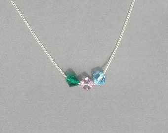 Swarovski Mother's 3 Beaded Necklace