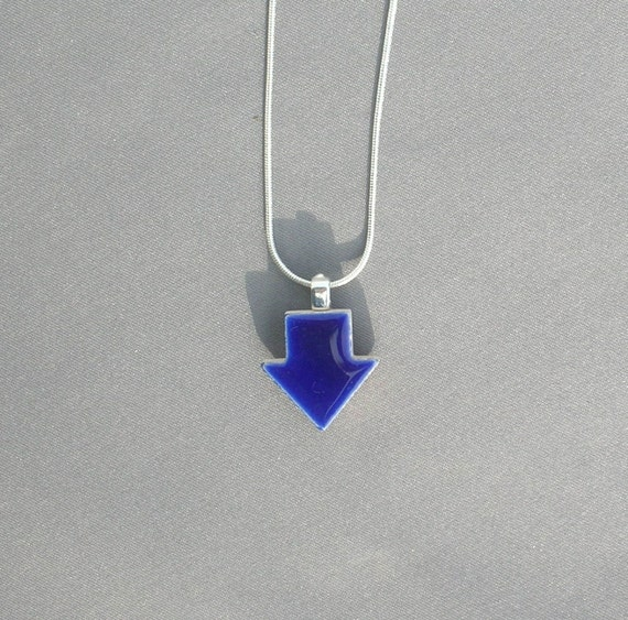 Cobalt  Arrow Pendant Necklace