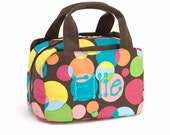 Monogrammed Insulated Lunchbag-polka dot