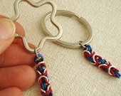 It's A Simple Patriotic Chainmaille Keychain