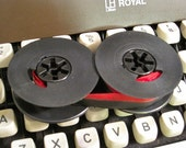 New Typewriter Ribbon - UNIVERSAL Fit Twin Spools, Black and Red ink