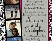 Wanted Save the date card design template photobooth need ASAP