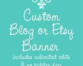 Custom Banner for Your Blog or Etsy Shop