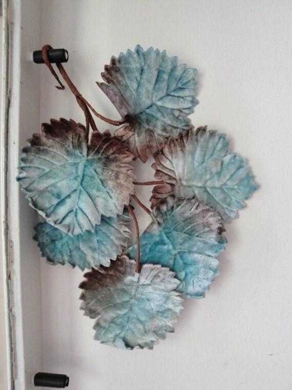 Vintage velvet millinery leaf stem