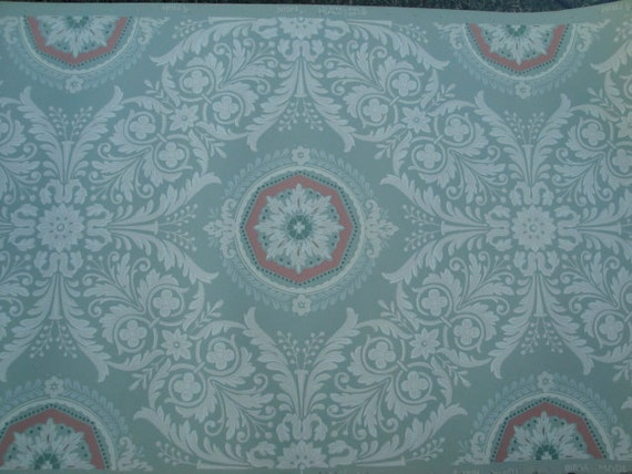 Antique wallpaper dated 1853