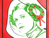 STAR WARS Holiday Special poster - Princess Leia & her Rebel Wreath