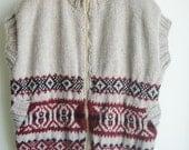 XXL Mens Vest, Husband Gift, Hand Knit Vest Men's, plus size xxl Vest, Oatmeal Vest, Birthdays gift for him husband, dad, him, men