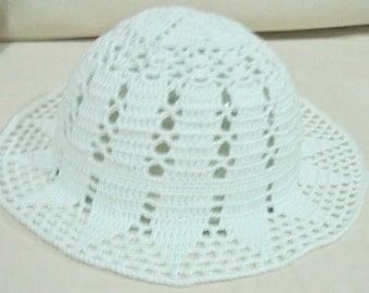 White Womens Hats Summer Hat Womens White Hats - Crochet Hat - boho brim - alternative wedding