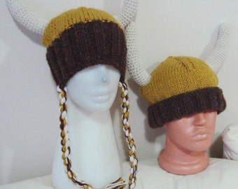 Viking festival costumes Hats for Man & Woman Hats viking hats in Mustard Yellow Brown Cream Horns Hats