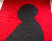 Red Alfred Hitchcock baby blanket