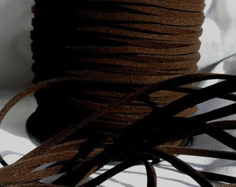 5 Yards- Very Dark Chocolate Suede Cord