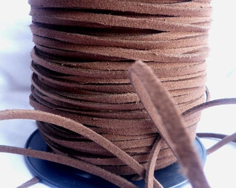 3 Yards- Dark Chocolate Suede Cord