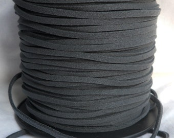 3 Yards- Charcoal Suede Cord