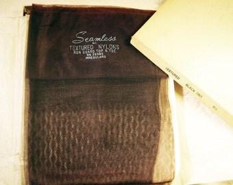 Vintage Textured Stockings- 3 Pair- Irregular  Size 9.5 NOS