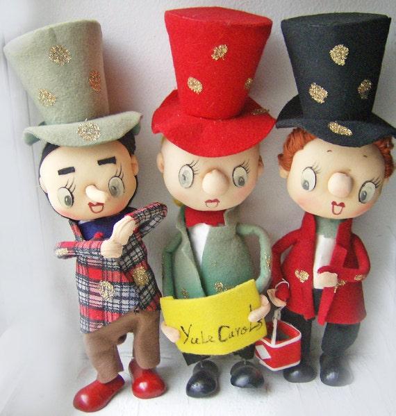 Vintage Christmas Choir Trio- Noel Japan Tag