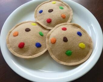 MandM Cookies - Felt Play Food