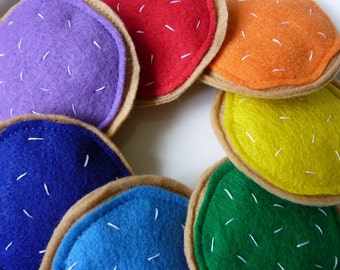 Rainbow Cookies - Felt Play Food