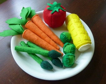 Vegetable Set - Felt Play Food