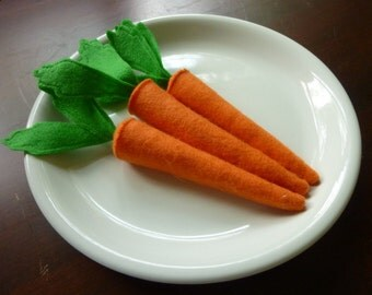 Carrots - Felt Play Food
