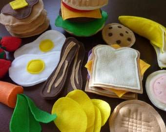 Starter Felt Food Set - Felt Play Food Bundle