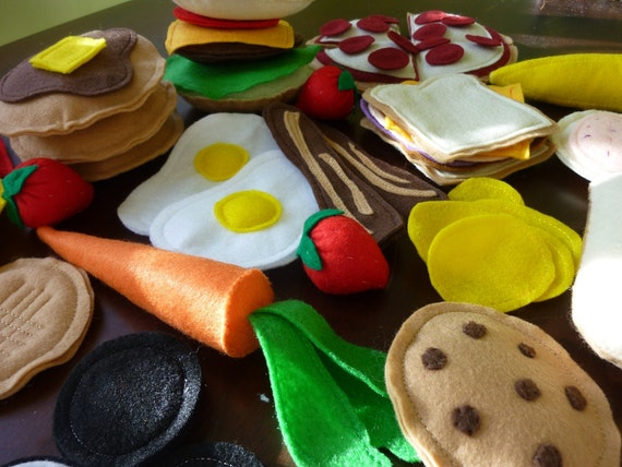Deluxe Felt Food Set - Felt Play Food Bundle