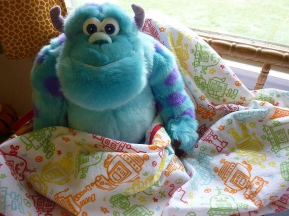 Extra Large Swaddle Blanket - Robots
