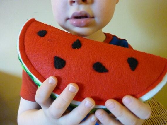 Watermelon Wedge - Felt Play Food