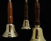 School Bell.Custom Engraved, brass, Hand Held Bell,  5 1/2 inches tall Wedding