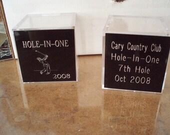 Golf Ball holder Display Case Trophy