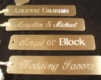 Bookmarkers Book marks Personalized Engraved  2 lines of TEXT Custom Color Choices