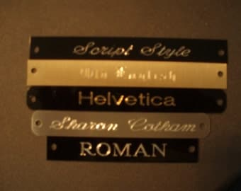 Aluminum Engraved name plate tag Customized with Personalized Engraving