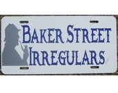 Sherlock Holmes Baker Street Irregulars Car Tag License Plate