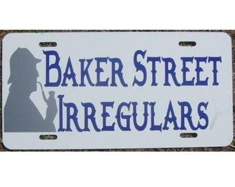 Sherlock Holmes Baker Street Irregulars Car Tag License Plate
