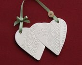 Wedding plaque in ceramic personalised to your own design.