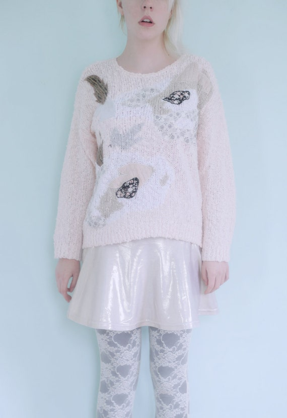 confetti cutout sweater