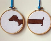 Too Long Dachshund Counted Cross Stitch Kit