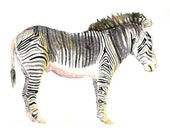 PRINT - zebra painting - African safari art - print of original painting