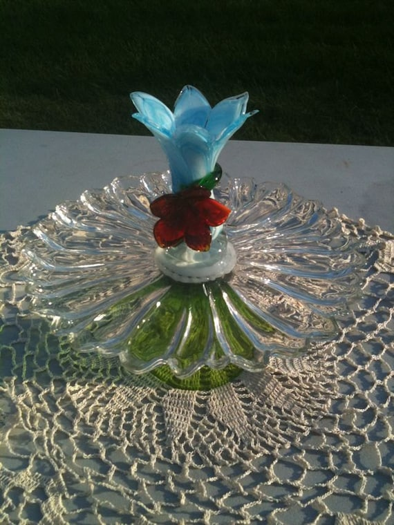 Items similar to Recycled Table Decor or Garden Art on Etsy