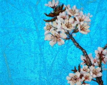 Original Acrylic Painting- Cherry Blossom- Realistic- Great Gift FREE SHIPPING