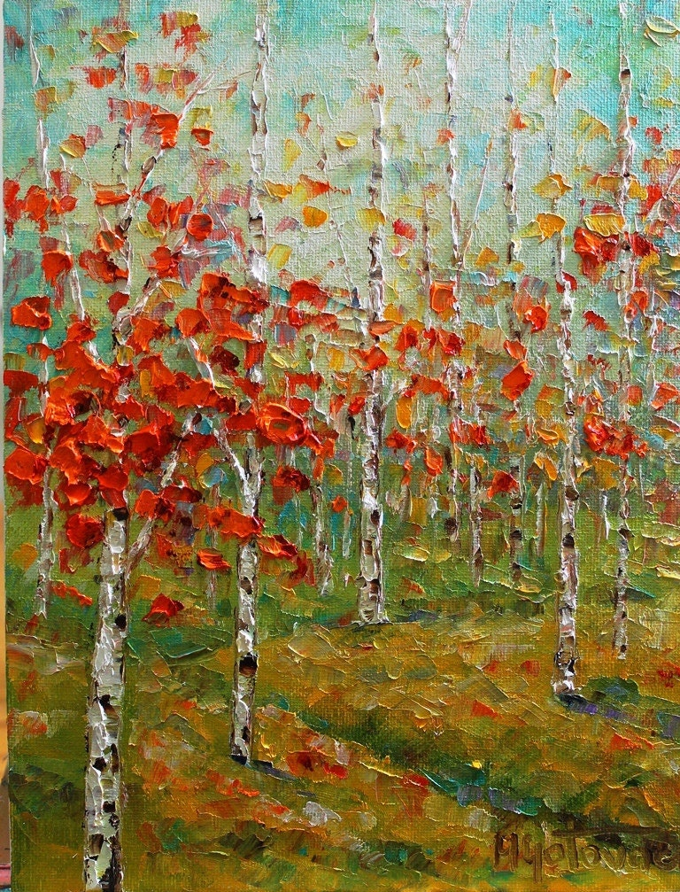 Reduced price late autumn original oil painting reserved for Oil paint price