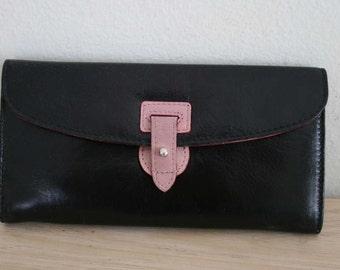 Vintage Leather Women clutch Wallet, Beautiful, Rare