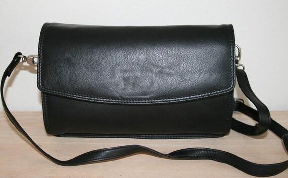 Soft Leather Unisex Organizer Bag, SHoulder,WRIST BAG, 1990's Classic style
