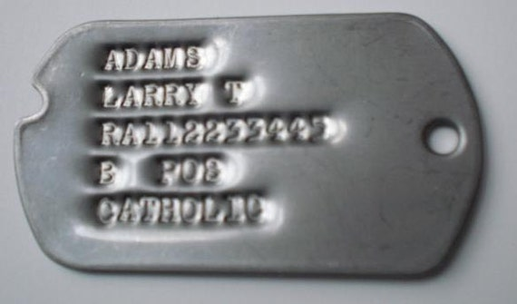 Genuine Custom Notched Military Dog Tag Set Made With Wwii