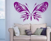 big Wall Decor Decal Sticker Removable Vinyl butterfly reserved for Cyndy