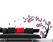 large Wall Decor Decal Sticker Vinyl sakura flower 002