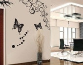 Wall Decor Decal Sticker Removable Vinyl butterfly 003